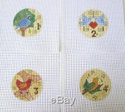 18 or 13 Count The 12 Days of Christmas 12 Pc Set Handpainted Needlepoint Canvas