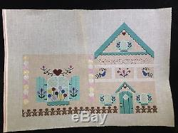 3 Hand-painted Needlepoint Canvases Extra Large 3-D Gingerbread House or Cottage