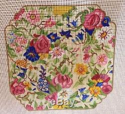 50% Off Handpainted Needlepoint Canvas By Napier Chair Cushion 18M 10.5x10.5