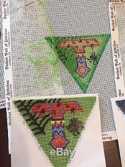 ACOD Halloween Banner With Stitch Guides handpainted Needlepoint 13 Canvases