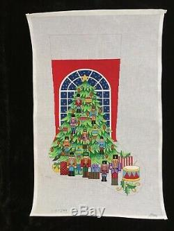 Alexa Designs Hand-painted Needlepoint Canvas Nutcracker Christmas Stocking
