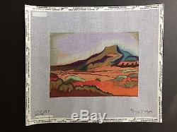 Ann O'Brien Hand-painted Needlepoint Canvas Colorful Pedernal Evening