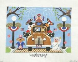 Annie Lane Our Hometown Handpainted Needlepoint Canvas