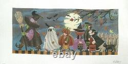 Ansley / Susan Roberts Halloween March 13 count Handpainted Needlepoint Canvas