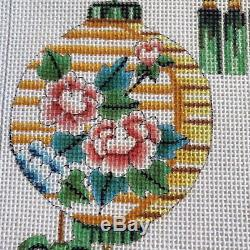 Asian Lanterns Large Needlepoint Canvas Hand Painted Princely Designs E Magnin