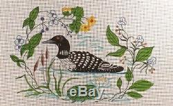 B. Eyre / Susan Roberts Loon on Pond Handpainted Needlepoint Canvas