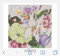BEDAZZLED HANDPAINTED NEEDLEPOINT CANVAS by SANDRA GILMORE