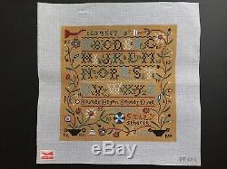 Birds of a Feather/Sally Spencer Hand-painted Needlepoint Canvas Sampler