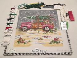 Christmas Woody-cooper Oaks-handpainted Needlepoint Canvas-threads