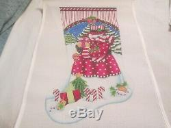 Candy Cane Snowman Stocking-melissa Shirley-handpainted Needlepoint Canvas