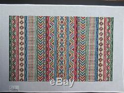 Canvas Works Anatolian Stripes, PO11A Hand Painted Needlepoint Canvas SQ