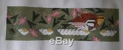 Charley Harper Hand Painted Needlepoint Canvas BOBWHITE FAMILY #CH-B070 NEW