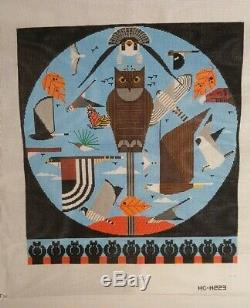 Charley Harper Hand Painted Needlepoint Canvas HAWK MOUNTAIN HC-H223 Beautiful