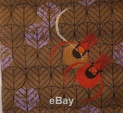 Charley Harper HandPainted Needlepoint Canvas Red Birds & Red Buds NEW CH-R106
