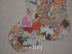 Dede Handpainted Needlepoint Canvas Candy Land Stocking HP Np