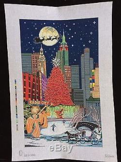 DJ Designs Hand-painted Needlepoint Canvas Large New York City Scene/13.5 x 22.5