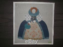 Dede Handpainted Needlepoint Canvas Queen Elizabeth I + Stitch Guide + Fibers