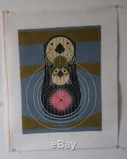 Devotion in the Ocean Charley Harper Handpainted Needlepoint Canvas NEW Mesh 18