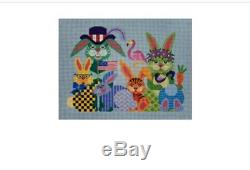 EVERY BUNNY NEEDS SOME BUNNY HANDPAINTED NEEDLEPOINT CANVAS JP Designs