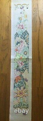 Edie and Ginger Hand-painted Needlepoint Canvas Colorful Tobacco Leaf Bell Pull
