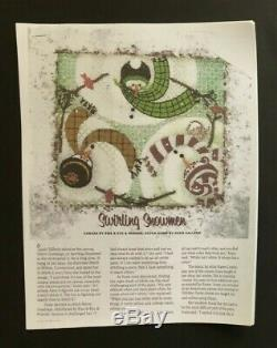 Ewe and Eye Hand-painted Needlepoint Canvas Colorful Swirling Snowmen/SG/$231R