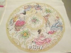 Fairy Tales Christmas Round-edie And Ginger-handpainted Needlepoint Canvas