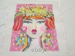 Flapper Girl-kate Dickerson-handpainted Needlepoint Canvas