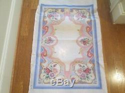 Floral Rug-handpainted Needlepoint Canvas