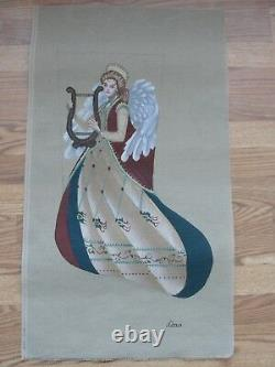 Flowing Angel Lyre Hand Painted Needlepoint Stocking Liz Dillon AXS274 S Roberts