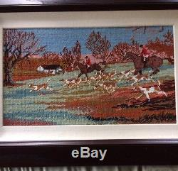 Foxhunt Equestrian Hand painted Needlepoint