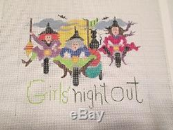 Girl's Night Out-handpainted Needlepoint Canvas