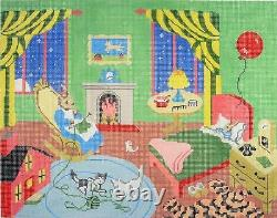 Goodnight Moon Storybook LG. Handpainted Needlepoint Canvas by Silver Needle