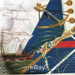 HMS Resolution Needlepoint Canvas Hand Painted Leigh Designs Tall Ship