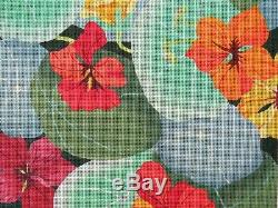 Hand Painted Needlepoint Canvas GIANT NASTURTIUM 879 by DEDE 13 Mesh 14x14