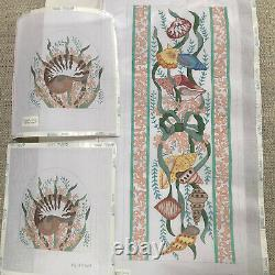 Hand Painted Needlepoint Canvases for Purse/Satchel-Shell Theme