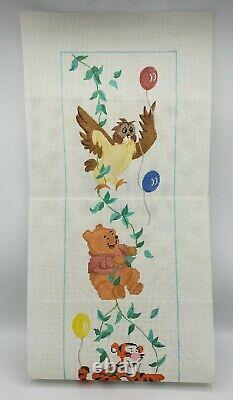 Hand Painted WINNIE THE POOH & FRIENDS Needlepoint Canvas Luedtke TALL! 40