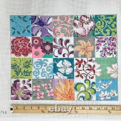 Hand painted Needlepoint Canvas Alice Peterson Patchwork Collage II 13 count