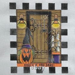 Hand painted Needlepoint Canvas Rebecca Wood October Entry Halloween spooky fall
