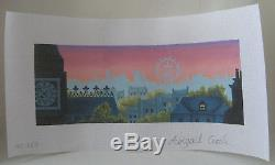 Handpainted Needlepoint Canvas Abigail Cecile Rooftops of London England AC-113