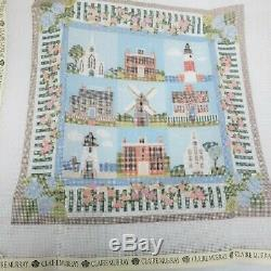 Handpainted Needlepoint Canvas, Claire Murray Nantucket Village 13 mesh, NEW