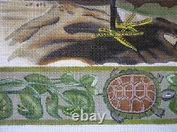 Handpainted Needlepoint Canvas Melissa Shirley Egrets with some silks 13 ct