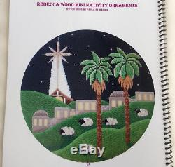 Handpainted Needlepoint Canvas Nativity Ornament Set Guide+ Rebecca Wood Started