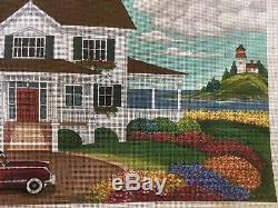 Handpainted Needlepoint Canvas Peter Ashe House / Stitch Guide To The Shore