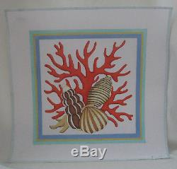 Handpainted Needlepoint Canvas Raymond Crawford Conch Shell Coral QT-183