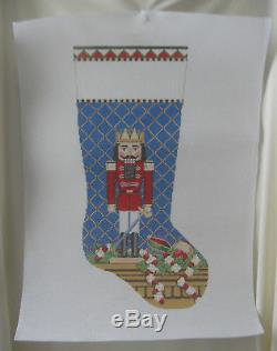 Handpainted Needlepoint Canvas Susan Roberts Christmas Stocking Nutcracker 183