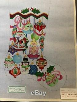 Handpainted Needlepoint Christmas Stocking Canvas by Strictly Christmas