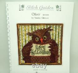 Handpainted Needlepoint Sandra Gilmore HALLOWEEN OWL Oliver withStitch Guide