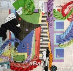 Handpainted Needlepoint canvas KIT Penny MacLeod Stairs 2 Something funky McLeod