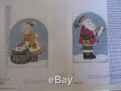 Handpainted needlepoint canvas Christmas Village/ Stitch Guide and Threads