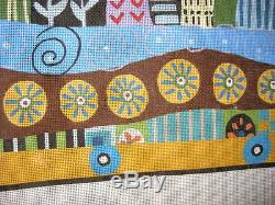 Handpainted needlepoint canvas Rug or Wall Hanging